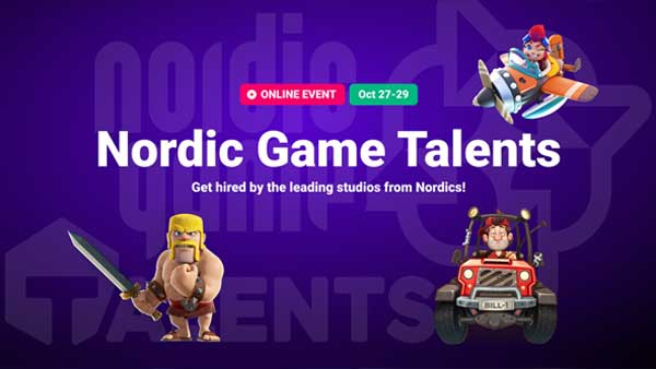 Nordic Game Talents on-line Oct 27-29